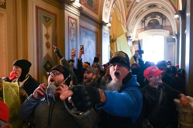 Trump supporters rioted inside the Capitol