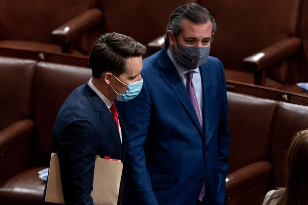 Sen. Josh Hawley and Sen. Ted Cruz